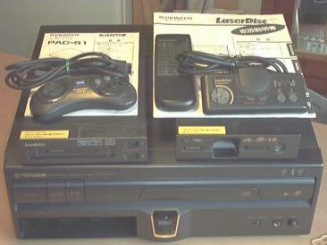 LaserActive con modulos MegaDrive y TurboGrafx